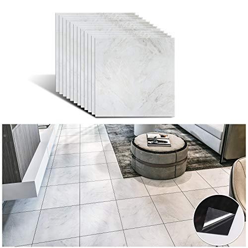 VEELIKE Azulejos adhesivos para pared, azulejos autoadhesivos, mármol, azulejos de baño, cenefa, PVC, 30 cm x 30 cm, 12 unidades