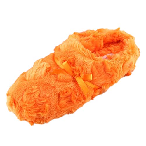 DNOQN Damen Niedlicher Bowknot Warme Baumwolle Sanft Plüsch Hausschuhe Drinnen Draußen