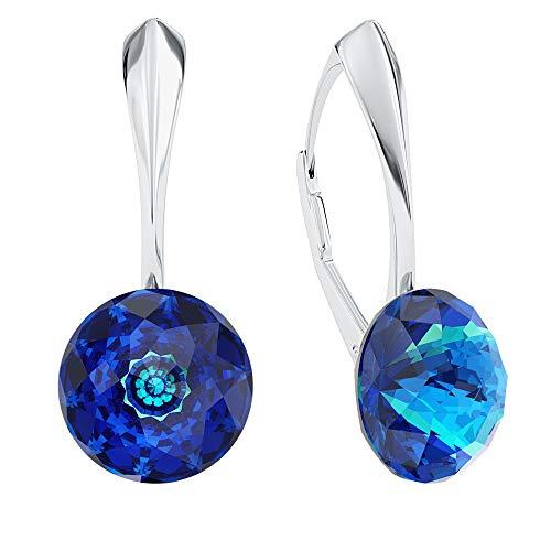 Beforya Paris** – Dome – Orecchini in argento 925 – molti colori – orecchini con cristalli Swarovski – bellissimi orecchini da donna – meravigliosi orecchini con portagioie PIN/75