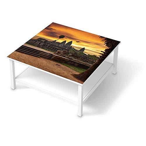 creatisto Möbelfolie passend für IKEA Hemnes Couchtisch 90x90 cm I Möbelsticker - Möbel-Tattoo Sticker Aufkleber I Deko Ideen Wohnung für Schlafzimmer, Wohnzimmer - Design: Angkor Wat
