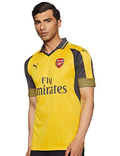 PUMA–Chaqueta de Arsenal Football Club Away 16–17réplica Camiseta de fútbol, English Premier League, Camiseta, Hombre, Color Spectra Yellow/Ebony, tamaño S