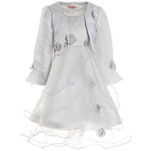 Meisjes communie jurk feestjurk Bolero Rose 21476