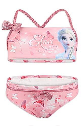 Disney Frozen 2 - Costume Bikini 2 Pezzi Mare Piscina - Bambina - Prodotto Originale con Licenza Ufficiale [1829 Rosa - 8 A - 128 cm]