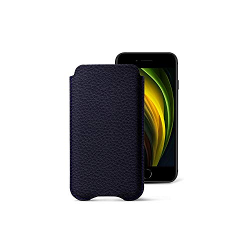 Lucrin - Funda Protectora Compatible para iPhone SE 2020/ iPhone 8/ iPhone 7 - Violeta - Piel Grano