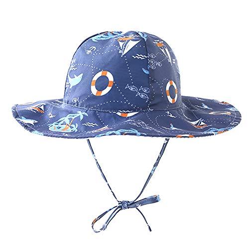 Sombrero Verano Niña, Reversible Suave y liviano Viaje Sombrero para el Sol Algodón Gorra de protección Solar para el Verano Playa Senderismo Viaje de 3-4 años Niño