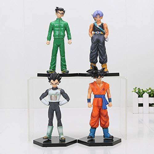 CXNY 8pcs / Set 8-17cm Dragon Ball Z Figura Son Goku Vegeta Yamcha Super Saiyan Tien shinhan Chiaotzu PVC Figura Modelo Juguetes-con Yamcha