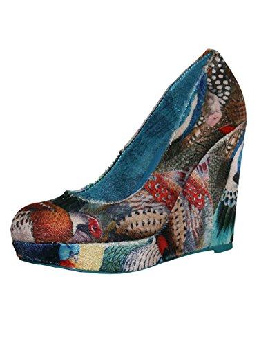Desigual Damen Designer Keilabsatz Schuhe - MARYLIN -41