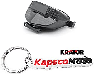 Krator Suzuki GSXR 600/750 / 1000 LED Taillights Brake Tail Lights with Integrated Turn Signals Indicators Smoke Motorcycle (2000-2003) + KapscoMoto Keychain