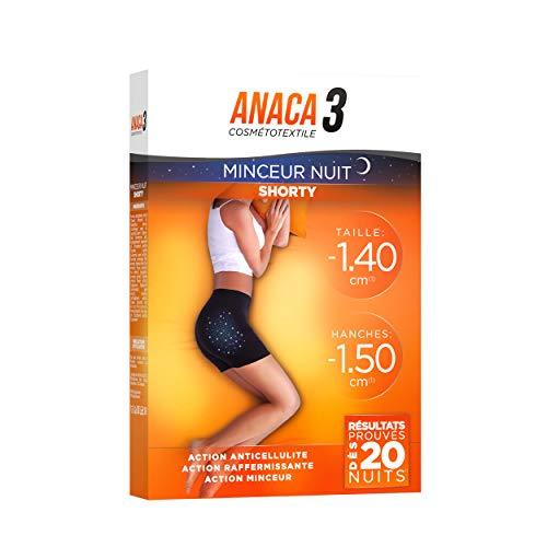 Anaca3 – Shorty Minceur Nuit – Action Amincissante – Résultats Prouvés* – Taille L-XL