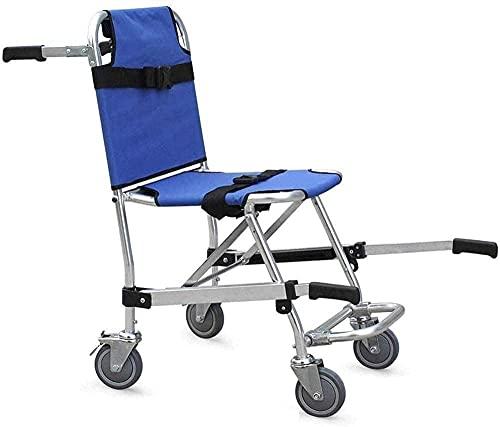 HYCy Joyfitness - Silla de Escalera Plegable, Ligera, Plegable, para Ambulancia, 3 Hebillas de liberación Ajustables, elevadores de sillas, Emergencia con 4 Ruedas, Silla de Transporte,