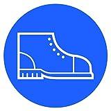 25 pegatinas para zapatos de seguridad, signos de prohibición de zapatos fijos con protección UV, señales de advertencia para exteriores, para interiores fijos, seguridad de Strobo 9,5 x 9,5 cm