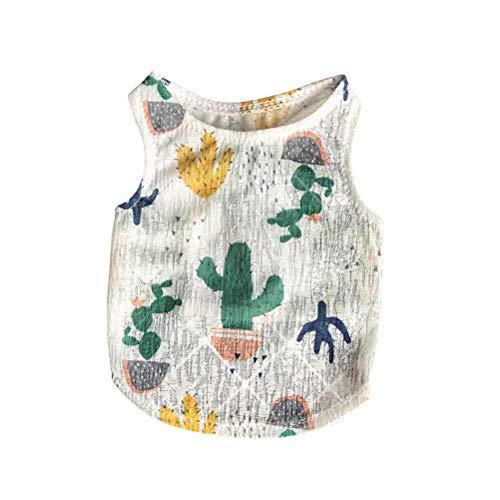 POPETPOP Ropa para Perro Camisa para Perros de Cactus Ropa de Verano para Perros Pequeños