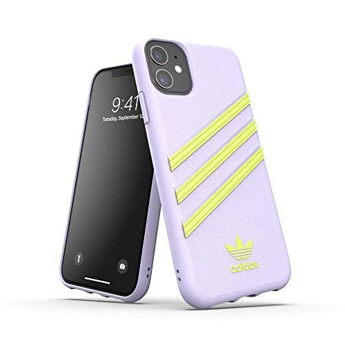 adidas Originals Designed für iPhone 11 Hülle, Schützende Handyhülle DREI Streifen - Weiß & Gelb