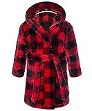 Happy Cherry Peignoir Polaire Enfant 3-4 Ans Robe de Chambre Polaire à Capuche Garçon Fille Robe de Chambre Hiver Pyjama à...