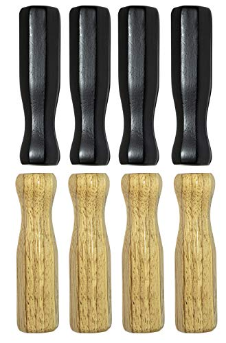 Foosball Handles for Foosball Table, 5/8 Inch Wooden Foosball Handle Grips for Foosball Rods, Table Soccer Foosball Accessories, 8 Pack, Mixed Color