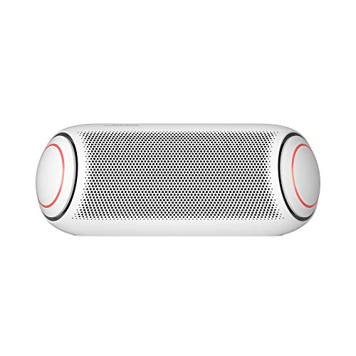 LG PL7W XBOOM Go Water-Resistant Wireless Bluetooth Party Speaker with Up to 24 Hours Playback – White