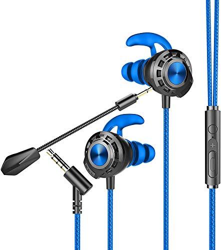 BENGOO G16 Auriculares para Juegos con micrófono, Auriculares para Xbox One, PS4, Nintendo Switch, PC, teléfono móvil, Juegos con micrófonos duales, estéreo de 3,5 mm Jack en la Oreja…