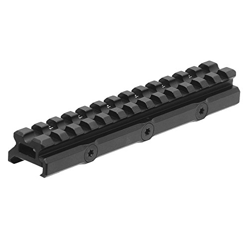 UTG Leapers MT-RSX20MOA Inc Super Slim 20 MOA Elevated Picatinny Mount, 13 Slot, Black