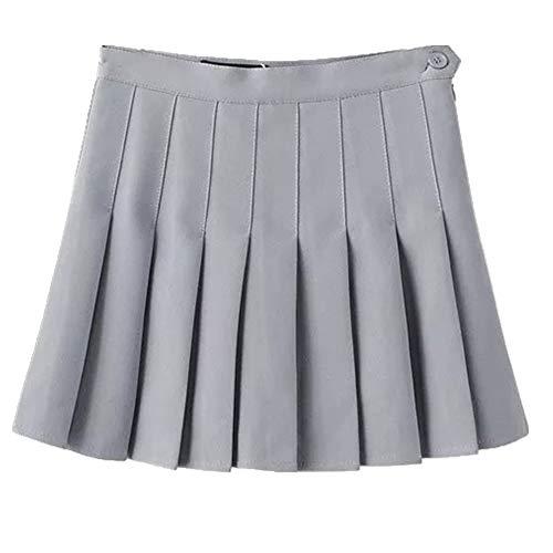 N\P Falda plisada. gris L