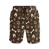 Animal Dog Paw Print House - Bañador para hombre (talla S)