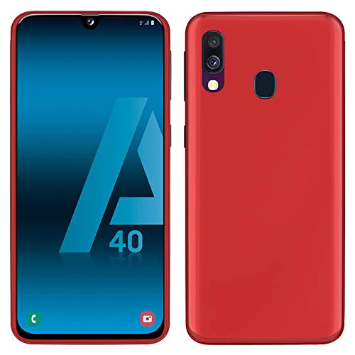 TBOC Custodia Gel TPU Rossa per Samsung Galaxy A40 A405FD A405FN [5.9 Pollici] Cover in Silicone Ultra Sottile e Flessibile per Cellulare