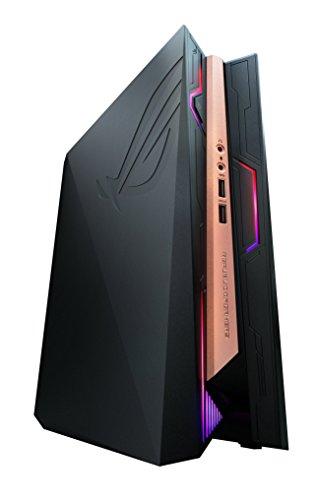 Asus ROG GR8 II-T022Z Mini Gaming-PC (Intel Core i5-7400, 8GB RAM, 256GB SSD, Nvidia GeForce GTX1060 3G-Grafikkarte, Windows 10 Home) schwarz/kupfer