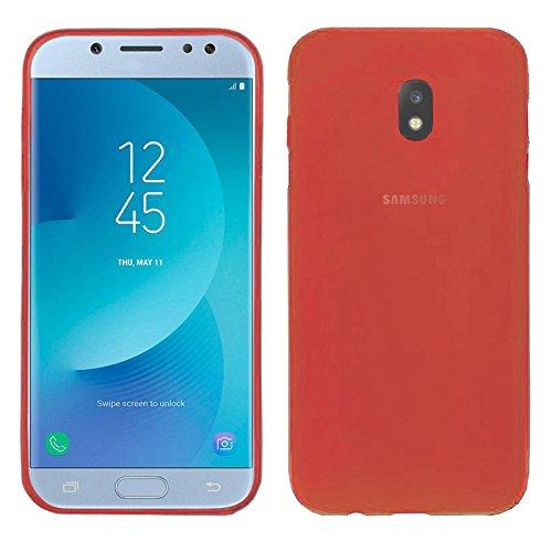 TBOC® Rot Gel TPU Hülle für Samsung Galaxy J5 (2017) J530F (5.0 Zoll) Superdünn Flexibel Silikonhülle