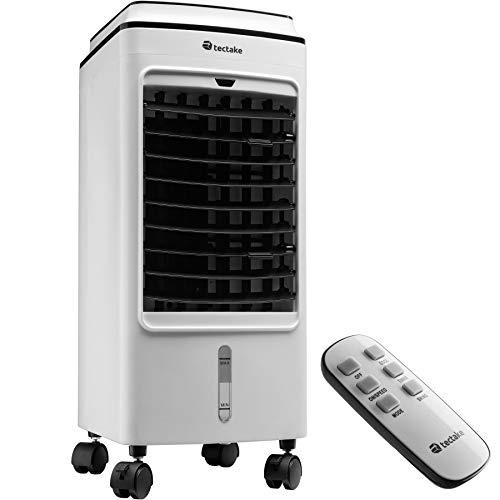 tectake 403915 Climatizador evaporativo, Acondicionador de aire, Unidad móvil de climatización, Sistema de climatización, Ventilador portátil para el hogar