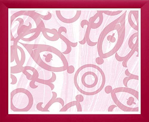 Homedecoration Bilderrahmen Colonia 50 x 70 cm mit leicht abgerundetem Profil in Magenta mit Acrylglas klar 1mm für Bilder Fotos Kunstdrucke Poster Puzzle