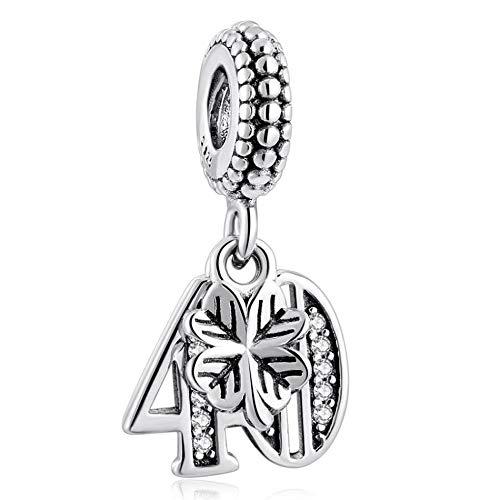 MariaFonte Abalorio de plata de ley 925, compatible con las marcas más populares de pulseras y collares.