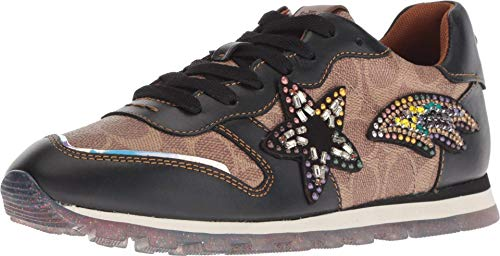 COACH C118 Runner with Signature Coated Canvas and Shooting Star Tan/Black 5