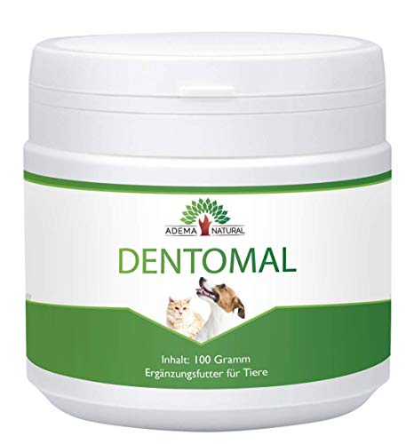 ADEMA NATURAL DENTOMAL - Dental, Zähne, Zahnpflege, Zahnsteinentferner, Mundgeruch bei Tiere, 100g Inhalt