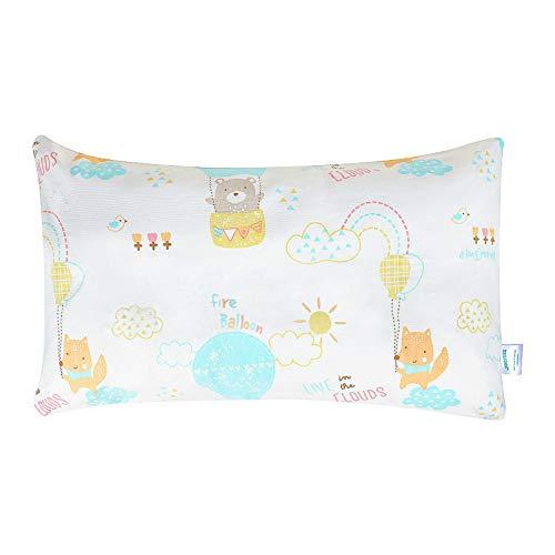 Yoofoss Almohada para niños Almohada para bebés con funda 45x26 cm Antiácaros Lavable Almohada Suave para Niños bebés y recién nacidos La Cabeza Apto para 1-6 Años