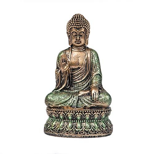 Buddha Statue Buddah Statute Buda – Buddha Statues for Home Decor,Buddah Statute Zen Decoration,Meditation Buddha Decor Antique Green