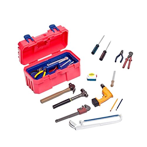 dailymall 22pcs / Kit 1: 6 Scale Repair Fixing Tools Mit Carry Box Zubehör Für 12 '' Figure - Rot