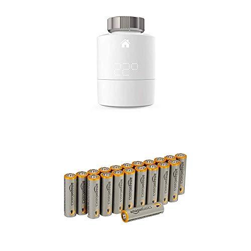 tado° Smartes Heizkörper-Thermostat (Zusatzprodukt) - intelligente Heizungssteuerung per Smartphone mit Amazon Basics Batterien
