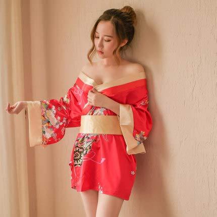 Pyjamas, Kimonokleider im japanischen Stil, Unterwäsche, die die Beziehung zwischen Ehemann und Ehefrau intensivieren-red-red
