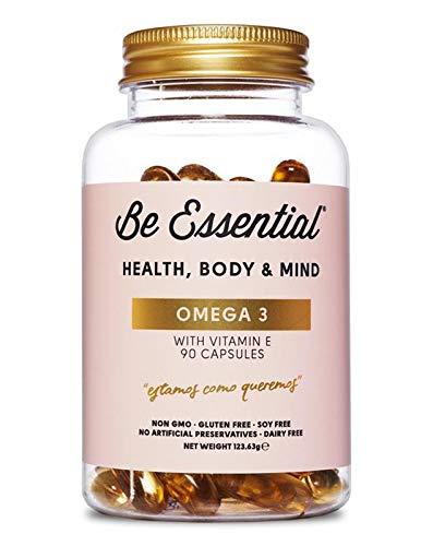 Be Essential - Omega 3 con Vitamina E, 90 cápsulas