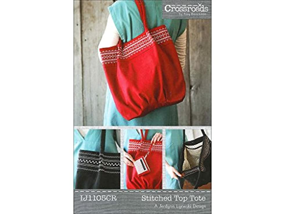 Indygo Junction Designs INJ1105CR Stitched Top Tote Pattern