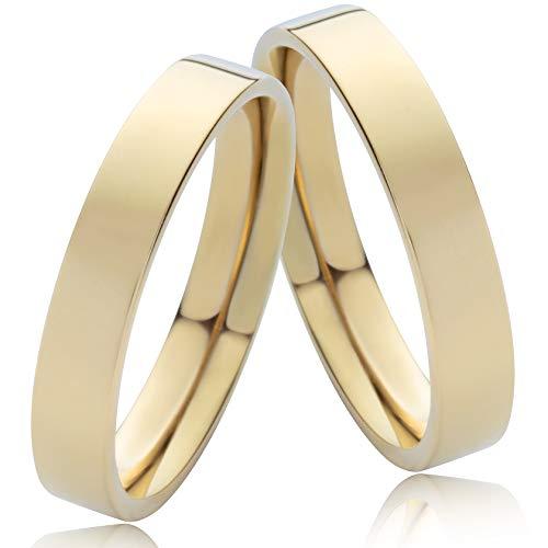 frencheis Eheringe Trauringe aus Gold direkt aus unserer Goldschmiede mit Ihrer persönlichen Lasergravur G330 (14 Karat (585) Gelbgold)