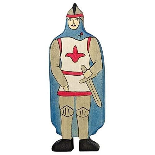 Holztiger - 2041133 - Figurine Chevalier Avec Manteau - Bleu