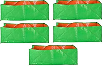 """YUVAGREEN Terrace Gardening Leafy Vegetable Green Grow Bag (24"""" X 12"""" X 9"""") - (Pack of 5)"""