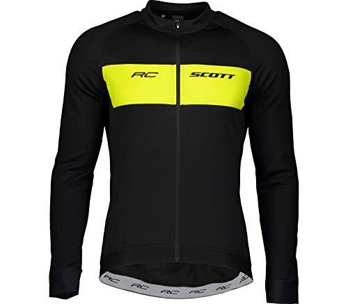 Scott RC Warm Winter Fahrrad Trikot schwarz/gelb 2021: Größe: XXL (58)