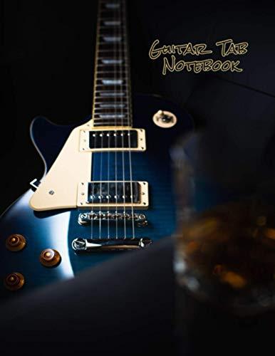 Guitar Tab Notebook: blank sheet music book / guitar tab sheet /sheet music paper 8.5 x 11 (Guitar cover Vo.2)