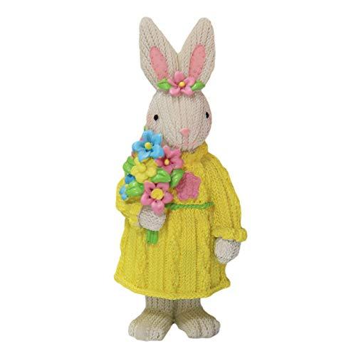 osmanthus Easter Bunnies Deko Hasen für draussen, Figur zum Sammeln, Kunstharz, Bunt, 7 x 7,5 x 15 cm (Osterhasen)