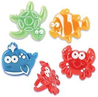 Sealife Beach Character Cupcake Rings - 24 ct