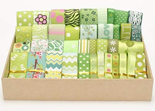 Conjunto de colores de cinta de mezcla color de bebé cinta para el cabello azul rosa Estilo/tamaño al azar 12y / lot (1y / pc) cinta para el cabello, verde