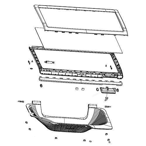 Samsung DC97-18845Q Washer Lid Assembly Genuine Original Equipment Manufacturer (OEM) Part