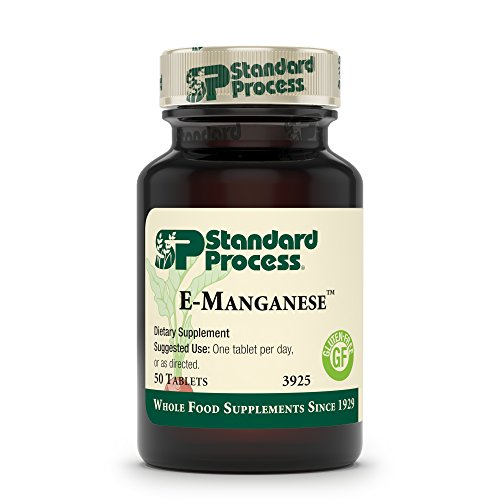 Standard Process E-Manganese - Pituitary Supplements - Pituitary Gland Supplements with Calcium Lactate, Ascorbic Acid, Calcium, Magnesium Citrate, Vitamin E, and Honey - 50 Tablets