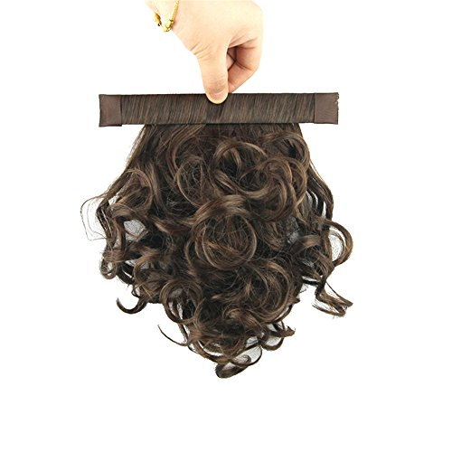 USIX 9.8' Hair Piece Band Ponytail Extension Short Curly Nature Looking Heat-Resisting Ponytail Extension(B2-30)